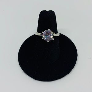 Jewelry - NWT Sterling Silver CZ Solitaire Ring Size 5.5